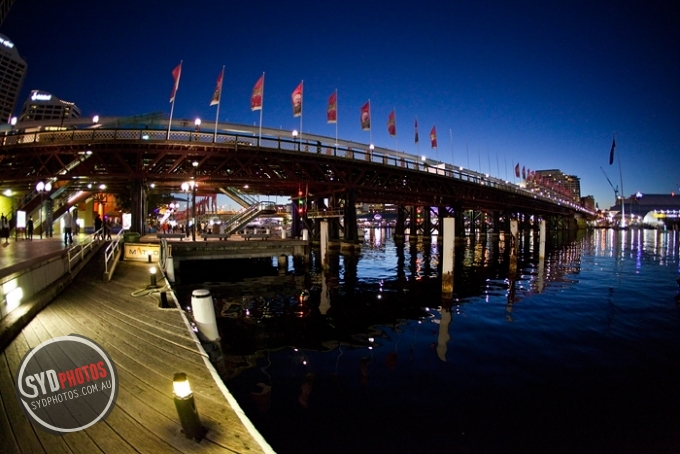 Pyrmont Bridge at Night, By Photographer Craig.Jewell, Created on 07 Apr 2011, SYDPHOTOS Photography all rights reserved.