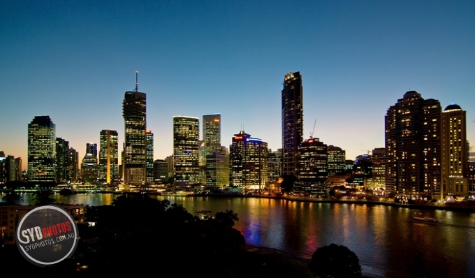 Brisbane City at Dusk, By Photographer Craig.Jewell, Created on 07 Apr 2011, SYDPHOTOS Photography all rights reserved.