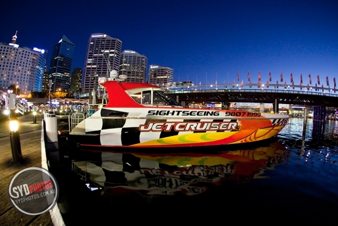 Jet Boat at Darling Harbour, By Photographer Craig.Jewell, Created on 07 Apr 2011, SYDPHOTOS Photography all rights reserved.