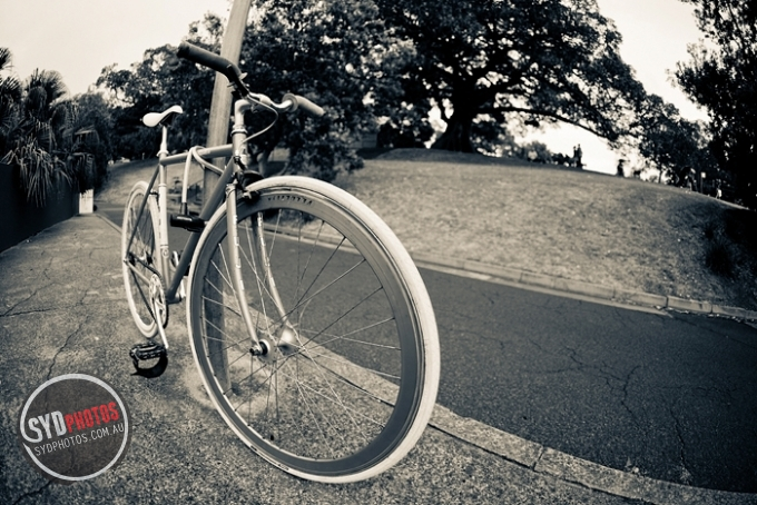 Fisheye Fixie, By Photographer Craig.Jewell, Created on 07 Apr 2011, SYDPHOTOS Photography all rights reserved.
