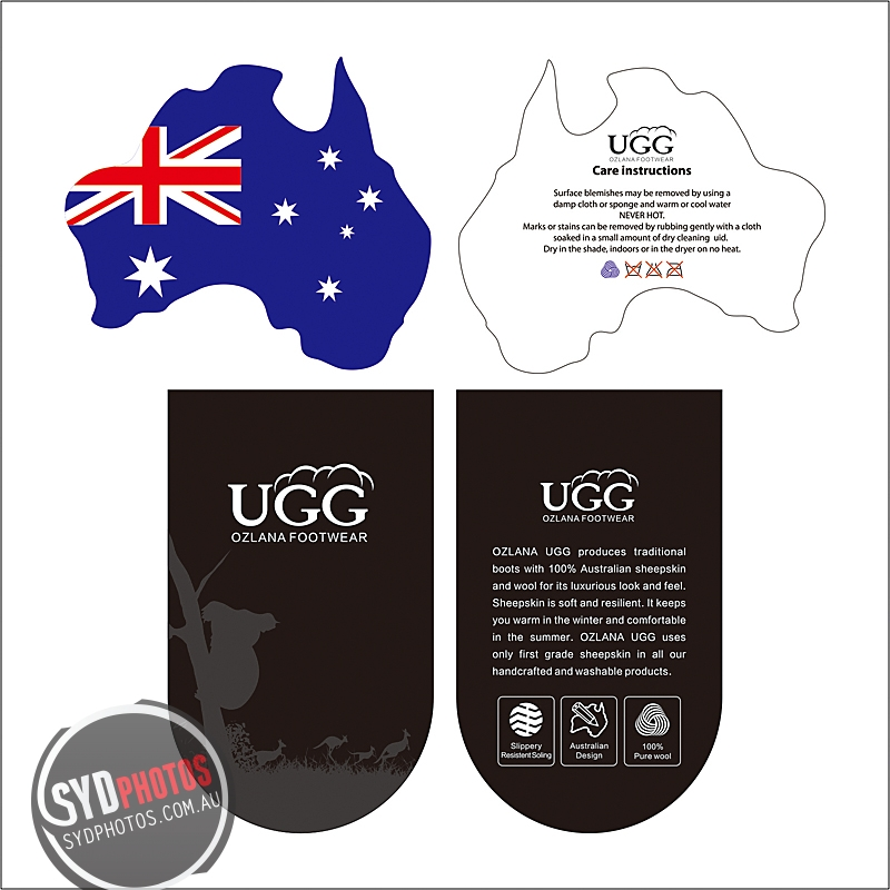 UGG OZLANA - Tags Design.jpg, By Photographer Sydphotos.Graphic, Created on 08 May 2014, SYDPHOTOS Photography all rights reserved.