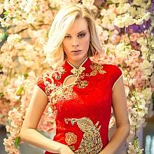 外国模特穿中国旗袍-20170316|悉尼摄影工作室
